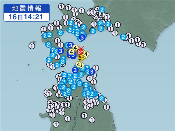 【速報】北海道・函館市で震度6弱の地震が発生!津波の心配はなし!