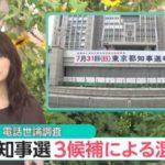【都知事選】選挙戦序盤、鳥越氏と小池氏が競り合うとの報道!増田氏はまさかの3位で追走!