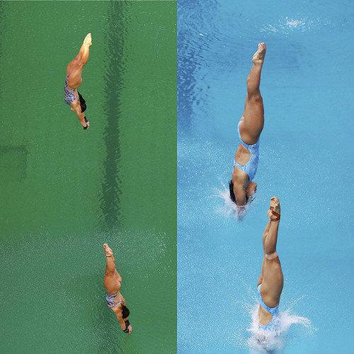 【不気味すぎ】リオ・オリンピックのプールがたった一晩で緑色に!原因は全く不明!