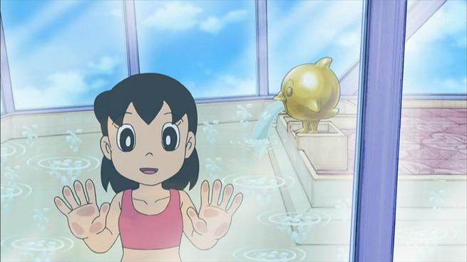 【!?】しずかちゃんの入浴シーンが水着になったと話題に!「児童ポルノ禁止法の影響」との推測広がる!
