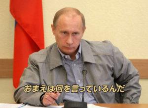 プーチン(おまえは何を言っているんだ)