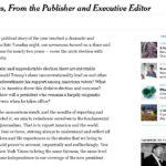 NYタイムズが選挙期間中にトランプ氏を酷評し続けていたことを謝罪!一方日本のメディアは完全に開き直り!