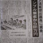 【癒着】平沼・西村ら自民・維新のカジノ推進議員が、パチンコ業者から691万円の献金を受け取っていたことが発覚!