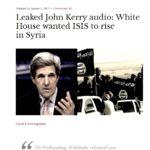 【どうなのか?】ケリー国務長官が「シリアのアサドを打倒するためにISIS(イスラム国)を作った」と発言!?ParsTodayが報道