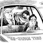 NYタイムズが安倍総理の風刺画を掲載!トランプの従順な子分を表現か!ドイツ誌も過激なトランプバッシングのイラスト!