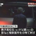 【静岡市葵区】16歳の男子高校生が父親を複数回刺し殺害!食事中にゲームをやめるように注意されたことで逆上か!?