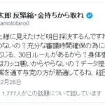 """山本太郎議員がツイッターで野党の""""ひ弱さ""""を批判!「野党は身体張って止めないの?」「データ捏造までして過労死促進法案を通す与党の方が筋通してる、経団連に」"""