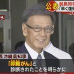 沖縄県の翁長知事、膵臓がんの「ステージ2」だったことを公表 公務への復帰に意欲を見せたものの、次期出馬は困難との見方も