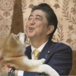 ザギトワ選手への秋田犬贈呈イベントに安倍夫妻が登場!安倍総理が前面にしゃしゃり出てきてマサルを抱っこ!