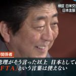"""【毎度のパターン】「TAG(物品貿易協定)」捏造の元凶は安倍総理だった!政府関係者「総理が国会で『FTAとは違う』と発言したから、""""TAG""""という言葉が作られた」"""