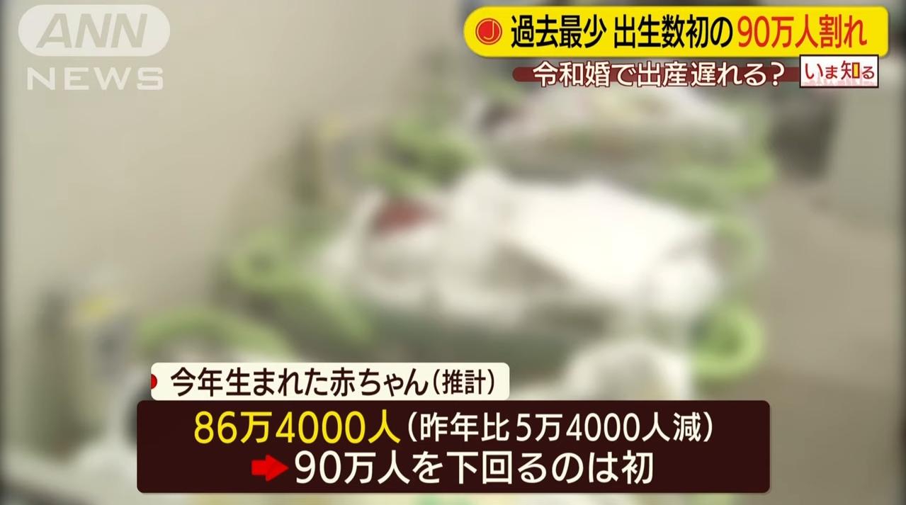 """【ヤバすぎ】出生数が""""戦後最低""""&死亡数が""""戦後最高""""を更新!人口減少数も初の「年間50万人超え」で、「日本消滅」へまっしぐら!"""